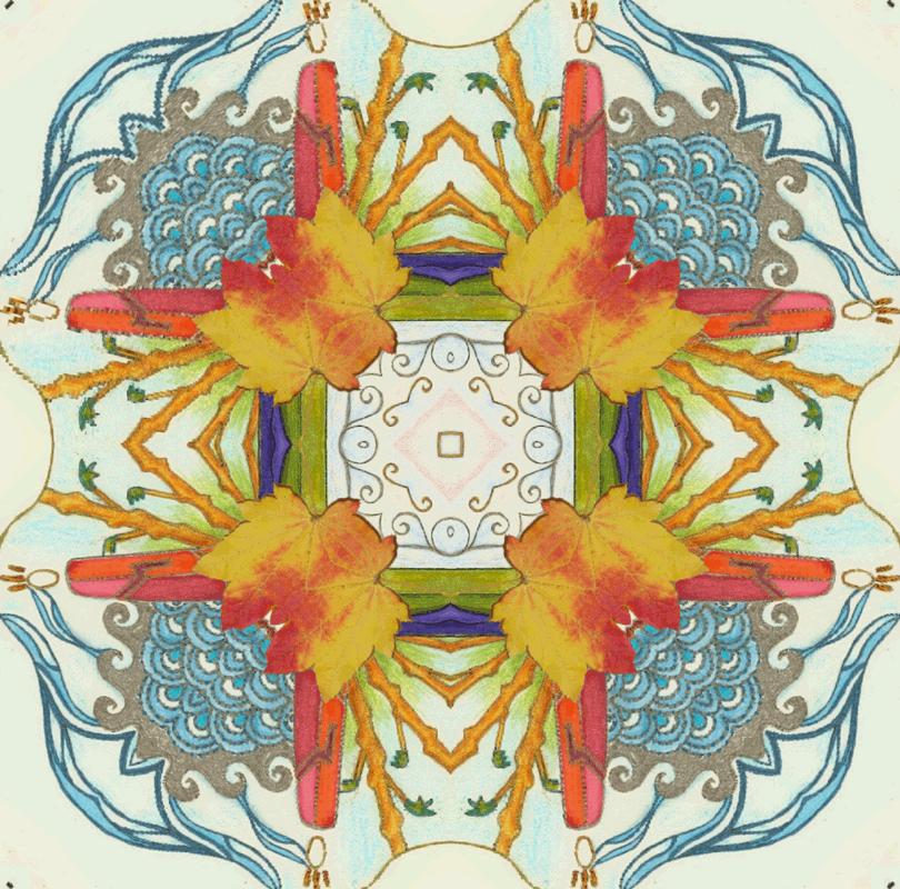 Four Seasons Mandala by Kimm Kirikao